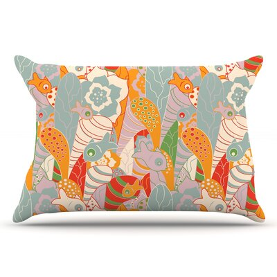 Akwaflorell Fishes Here, Fishes There Ii Pillow Case