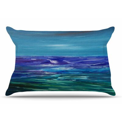 Cyndi Steen Moonlit Waves Pillow Case