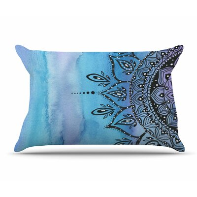 Li Zamperini Mandala Pillow Case Color: Blue/Aqua