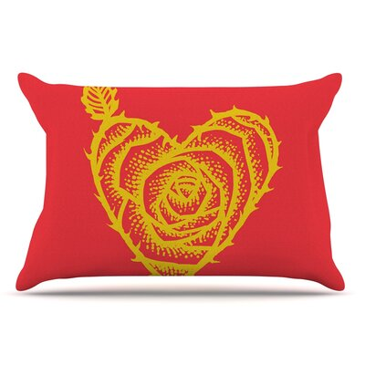 BarmalisiRTB I Love Roses Heart Thorns Pillow Case