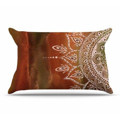 Li Zamperini Mandala Pillow Case Color: Orange/Brown