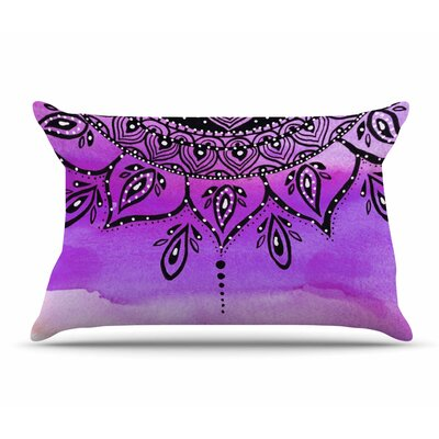 Li Zamperini Lilac Mandala Pillow Case Color: Lavender/Purple
