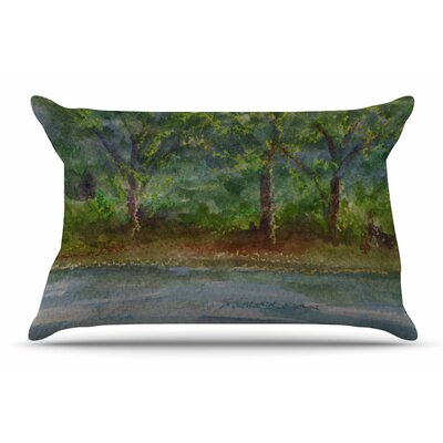 Cyndi Steen Storm On The Pond Pillow Case
