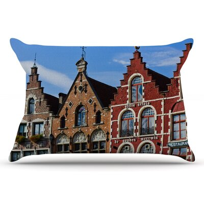Ann Barnes 'Inbruges' City Street Pillow Case