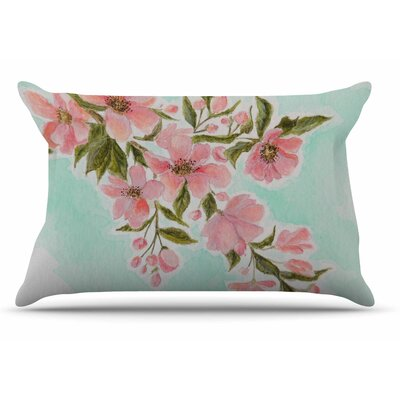 Christen Treat Chieko Mint Pillow Case