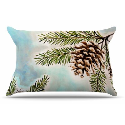 Christen Treat Pinecones And Sky Pillow Case