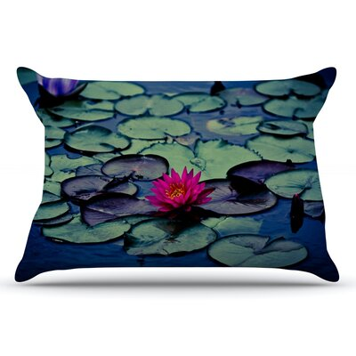 Ann Barnes 'Twilight' Water Lily Pillow Case