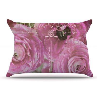 Ann Barnes Paris Postcard Flowers Pillow Case