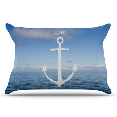 Ann Barnes Roam Iii Anchor Pillow Case