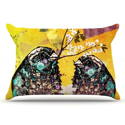 alyZen Moonshadow Birds In Love Pillow Case