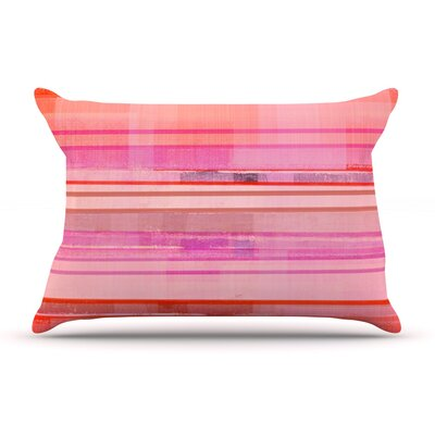 CarolLynn Tice Starwberry Shortcake Stripes Pillow Case