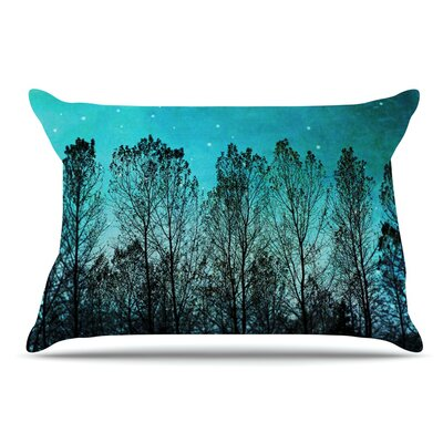 Sylvia Cook Dark Forest Trees Pillow Case