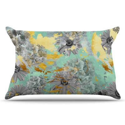 Zara Martina Mansen Mint Gold Garden Pillow Case