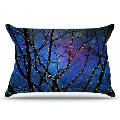 Sylvia Cook Holiday Lights Christmas Pillow Case