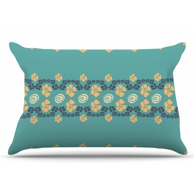 Zara Martina Mansen Teal Flora Formations Pillow Case