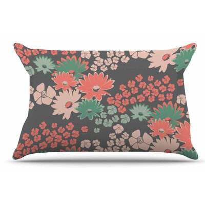 Zara Martina Mansen Natures Bouquet Coral Pillow Case