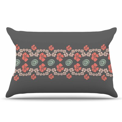 Zara Martina Mansen Flora Formations Coral Pillow Case