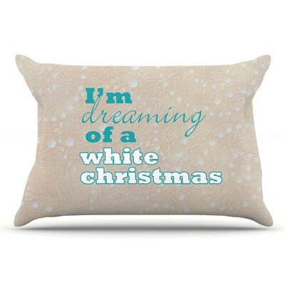 Sylvia Cook White Christmas Pillow Case
