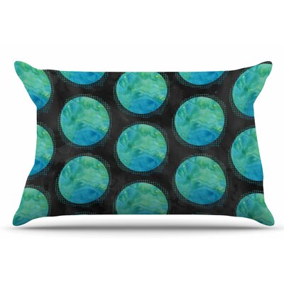 Zara Martina Mansen Moon Watercolor Polkadot Pillow Case