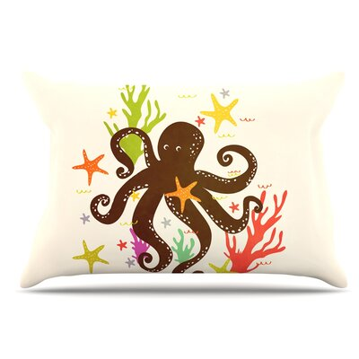 Strawberringo Friends Around The Sea Octopus Pillow Case