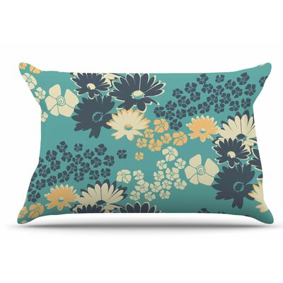 Zara Martina Mansen Teal Color Bouquet Pillow Case