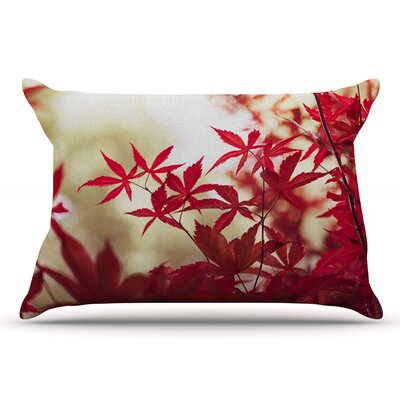 Ann Barnes September Afternoon Leaves Pillow Case