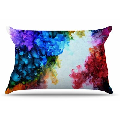 Claire Day Fiona Rainbow Painting Pillow Case