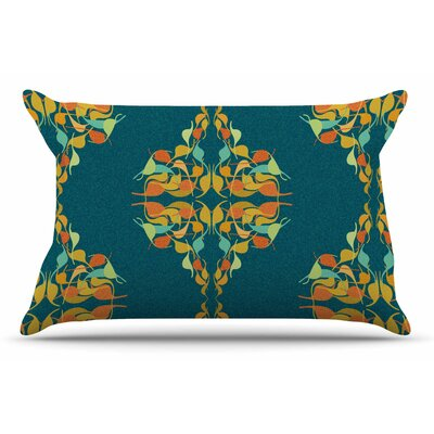 Dan Sekanwagi Feast Pillow Case Color: Turquoise/Teal