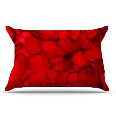 Claire Day Red Abstract Pillow Case