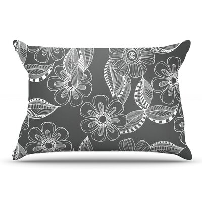 Louise Machado Floral Ink Pillow Case