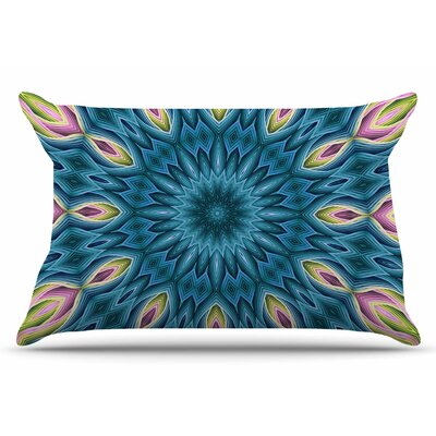 Sylvia Cook Zapped Pillow Case Color: Blue/Teal