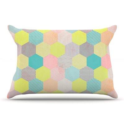 Louise Machado Pastel Hexagon Geometric Pillow Case