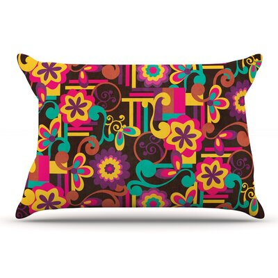 Louise Machado Arabesque Floral Bright Pillow Case