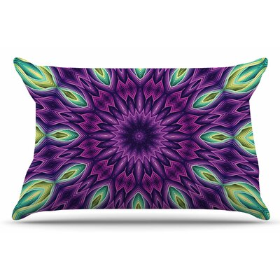Sylvia Cook Zapped Pillow Case Color: Purple/Green