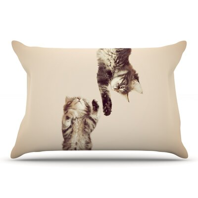 Monika Strigel 'Upside Down' Cats Pillow Case