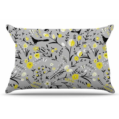 Laura Nicholson Blackbirds Pillow Case