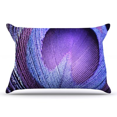 Monika Strigel 'Purple Peacock' Pillow Case