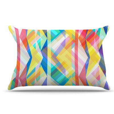 Miranda Mol Triangle Rhythm Pastel Geometric Pillow Case
