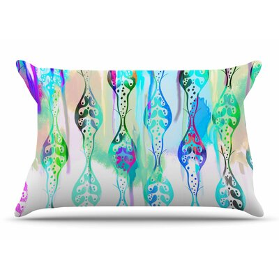 Dan Sekanwagi Seeds Of Unity Abstract Pillow Case Color: Blue/Aqua