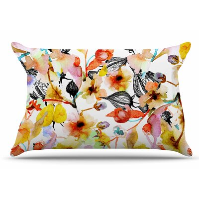 Liz Perez 'Blossoms' Floral Pillow Case