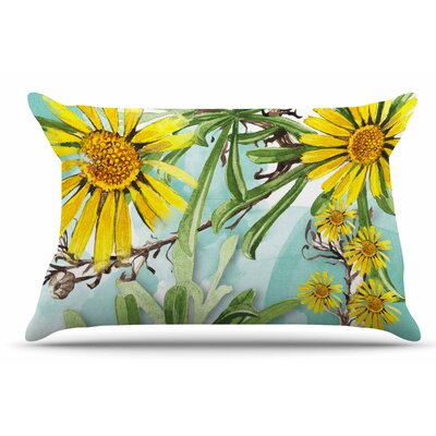 Liz Perez 'Sunny Day' Floral Pillow Case