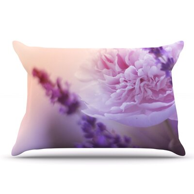 Monika Strigel 'Peony And Lavender' Pillow Case