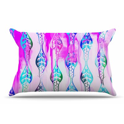 Dan Sekanwagi Seeds Of Unity Abstract Pillow Case Color: Violet/Pink