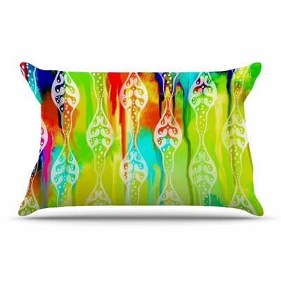 Dan Sekanwagi Seeds Of Unity Abstract Pillow Case Color: Green/Red