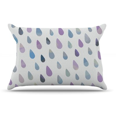 Daisy Beatrice Opal Drops Peach Pillow Case Color: Purple