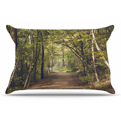 Ann Barnes Forest Light Nature Photography Trees Pillow Case