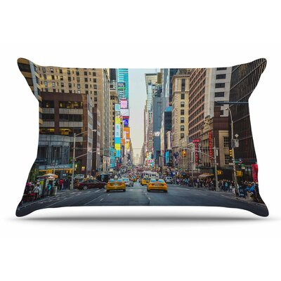 Ann Barnes Sunset Over 7Th Urban Photography Pillow Case