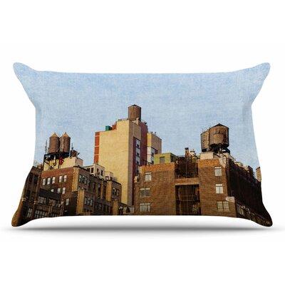 Ann Barnes Vintage Nyc Cityscape Pillow Case