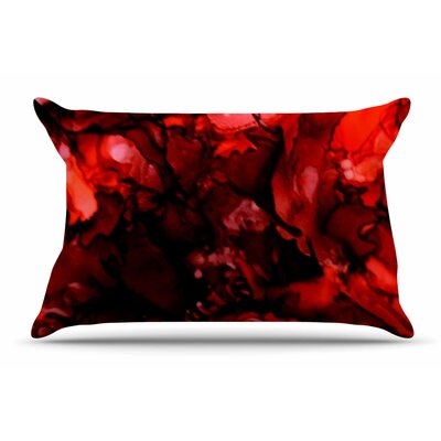 Claire Day Dark Red Pillow Case