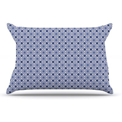 Carolyn Greifeld Bohemian Blues Ii Geometric Pillow Case